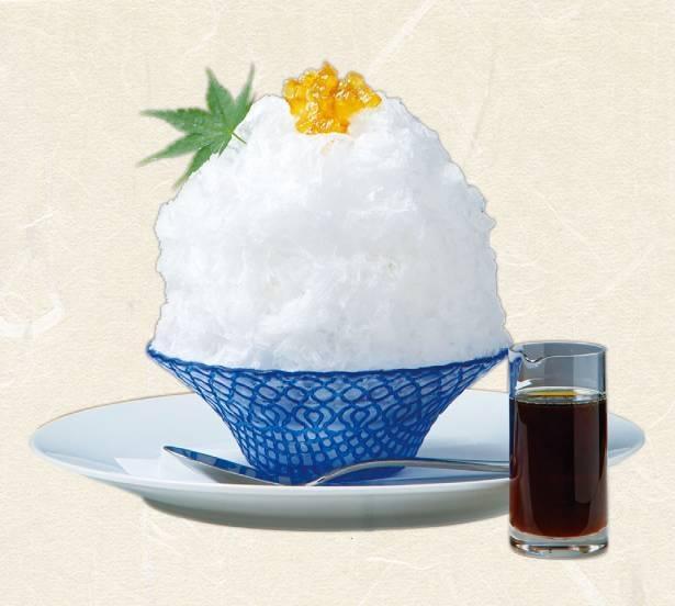 あと味すっきりで、さらりと食べられる「柚子みりんシロップのかき氷」(税込 1100円) / Restaurant&Cafe K庵