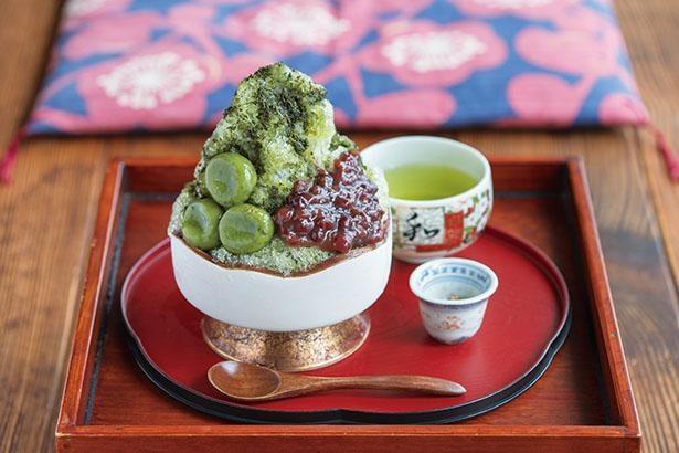 「かぶせ茶氷」(税込 700円) / 「かぶせ茶カフェ」(三重県四日市市)