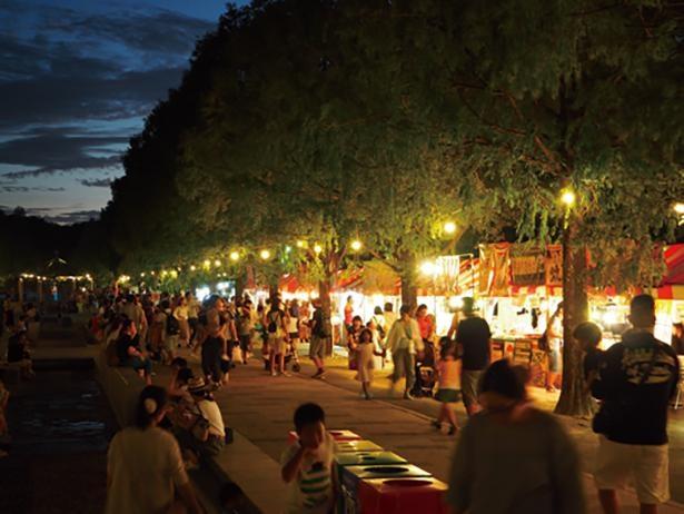 大道芸やガーデンライブなどを見ながら、キッチンカーのグルメを味わえる / 豊橋総合動植物公園 のんほいパーク