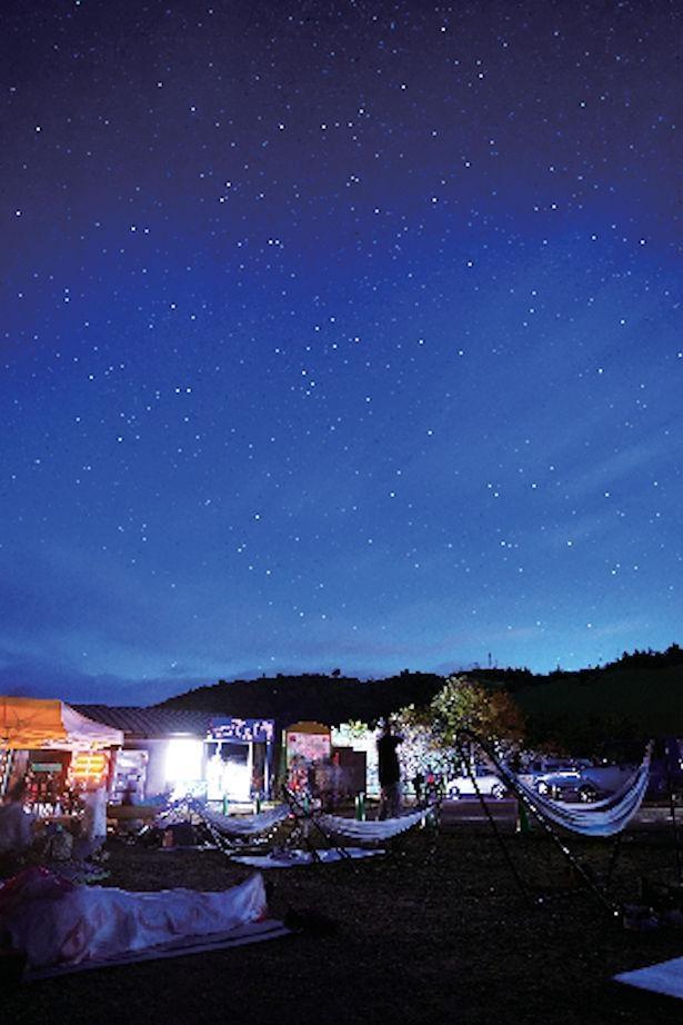 雄大な高原から見える星空は絶景! / 茶臼山高原