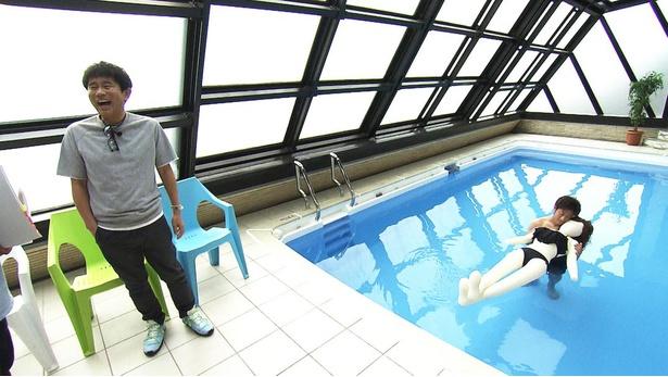 プールの中で抱き合う再現シーンを見て大爆笑の浜田。浜田らの笑いが止まらなかったロケ地とは?