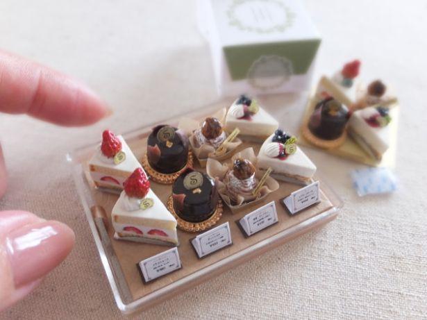 10万円という高値が付いた、shibazukeparipariさんの「ショーケース入りケーキ」