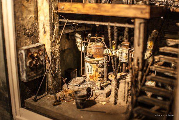 静謐かつ哀愁の漂う地下廃墟のミニチュア。mihanada miniaturesさん自身が特にお気に入りの作品だ