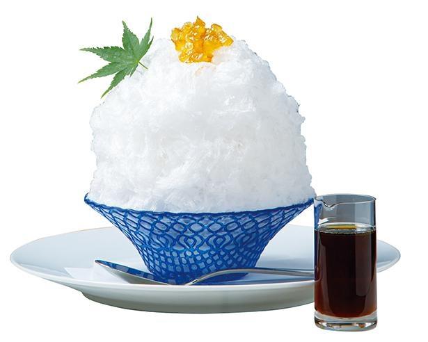 みりんならではの自然な甘味を堪能できる /「柚子みりんシロップのかき氷」(税込 1100円) /「Restaurant&Cafe K庵」