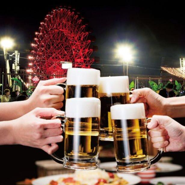 毎年人気のビアガーデンが今年もオープン/阪急トップビアガーデン