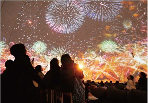 今年の夏は「ハナビリウム」で、360度実写映像による圧倒的な花火鑑賞体験を