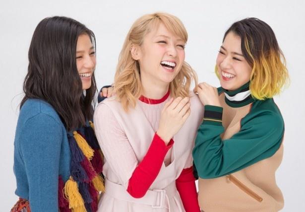 左から石井杏奈、Ami、武部柚那
