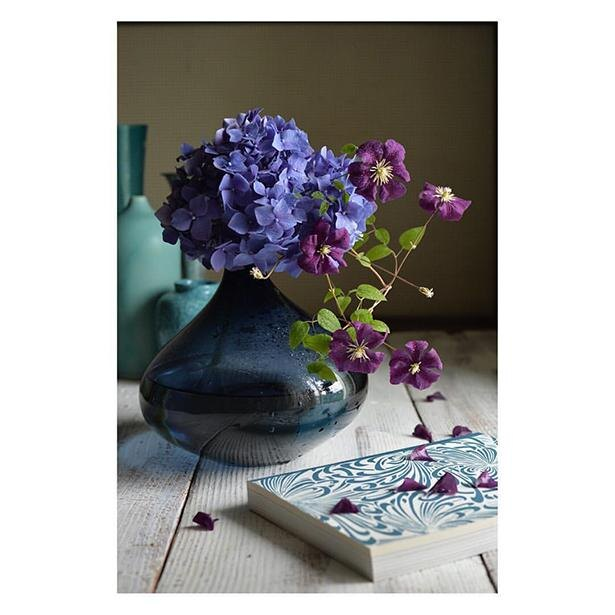 紫陽花、クレマチス