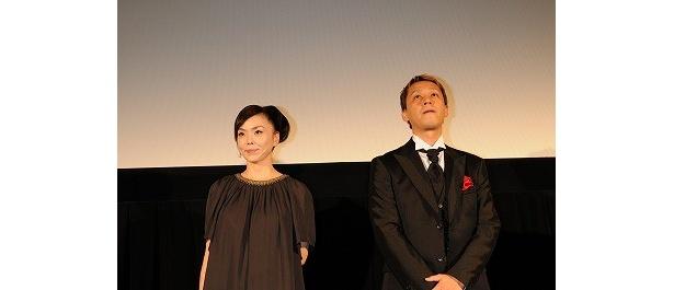 ドキュメンタリー『SOUL RED 松田優作』で登壇した松田美由紀と御法川修監督