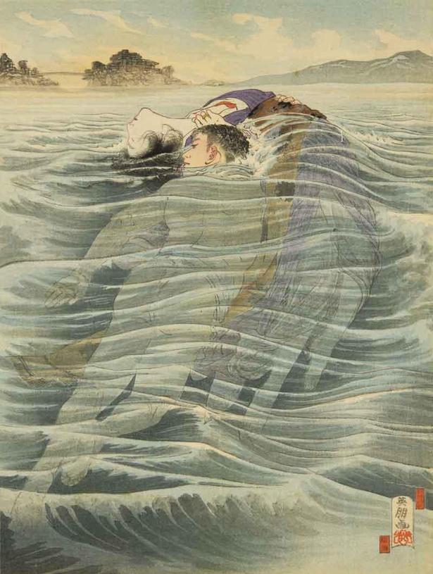 【写真】鰭崎英朋 泉鏡花著『続風流線』口絵 春陽堂 明治38(1905)年8月