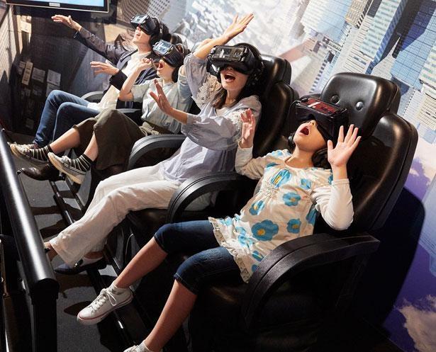 バンジーで宇宙へ向けて飛んで行くスリルを体験できる、VRアトラクション「ウルトラ逆バンジー」