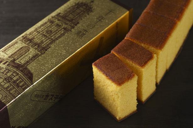高級感のあるゴールドのパッケージもポイント!「千年の森 カステラ0.5斤(ゴールド)」