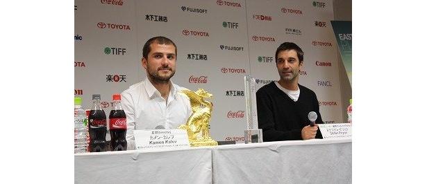 『イースタン・プレイ』カメン・カレフ監督(左)とプロデューサーのステファン・ピリョフ