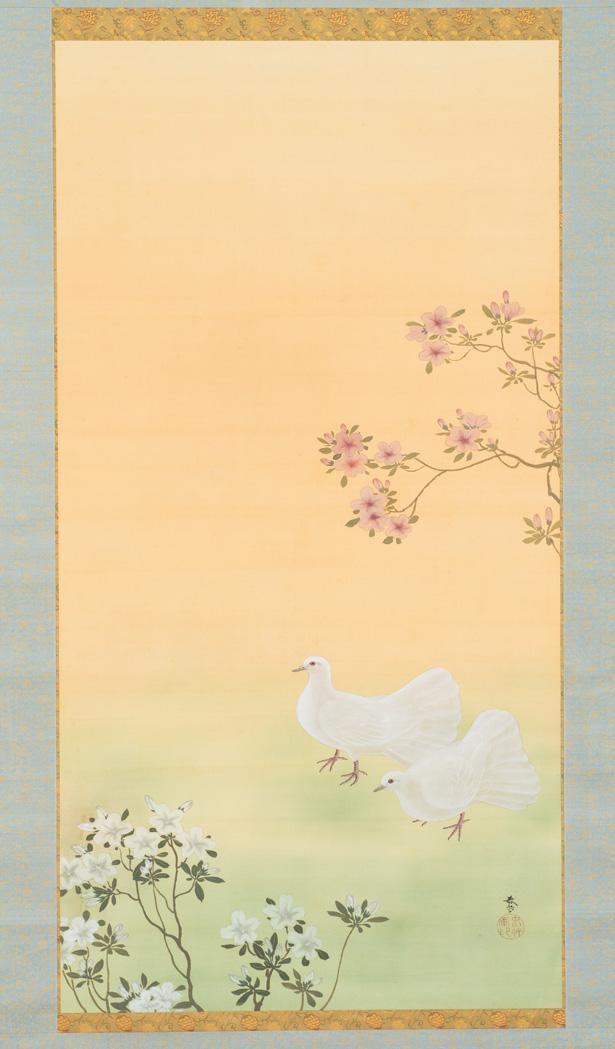 菱田春草「春庭」。福田コレクションの中核の一つを成す、東京画壇の名匠たちの作品を楽しんで/福田美術館
