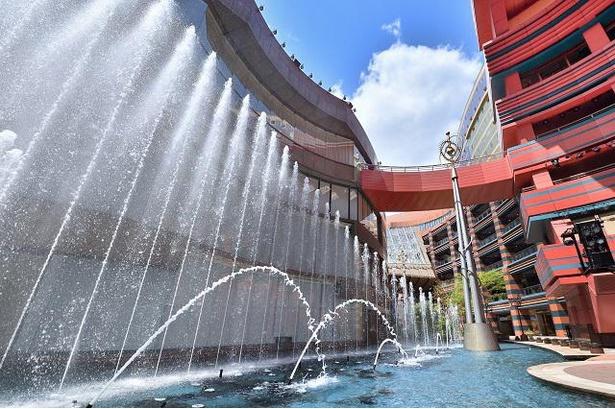 キャナルシティ博多の運河や噴水