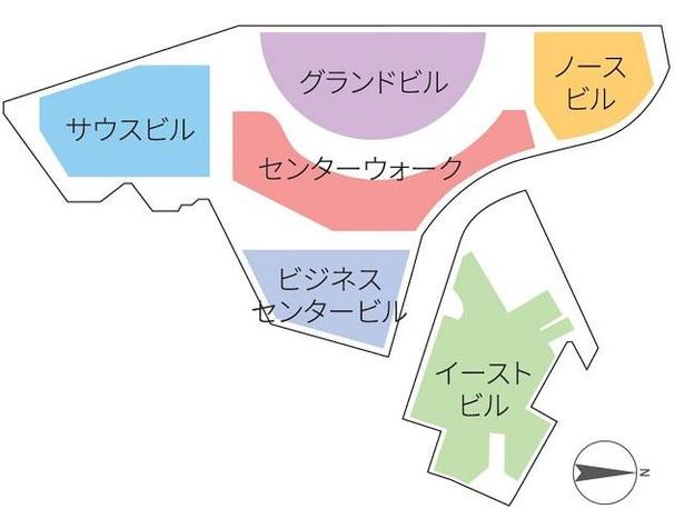 キャナルシティ博多のエリアマップ