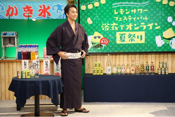 浴衣姿を褒められたTAKAHIRO。瞬時に「私服です」と返す