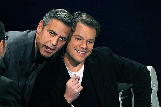映画での共演以来、親しい友人関係にあるジョージとマット