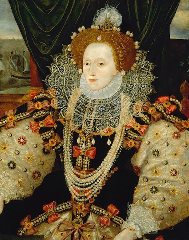 展示されている作品の1つである「エリザベス1世(アルマダの肖像画)」