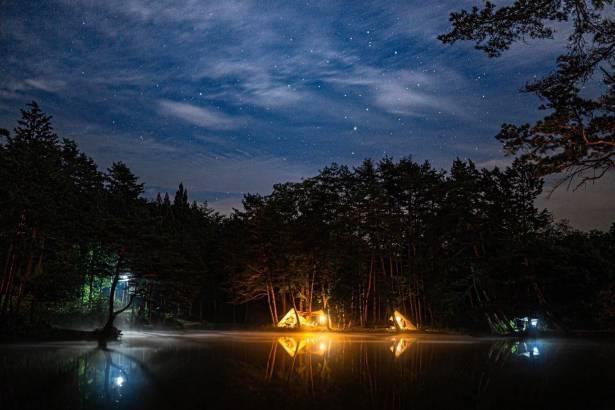 【写真】「日本一の星空」が鑑賞できる阿智村のキャンプ場も参加