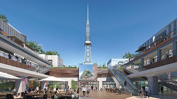 地下街の入口に設置されるデジタルサイネージでイベント情報を発信 / Hisaya-odori ParkHisaya-odori Park