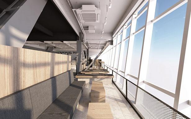 壁一面の眺望は圧巻 / base lab. 名古屋テレビ塔店