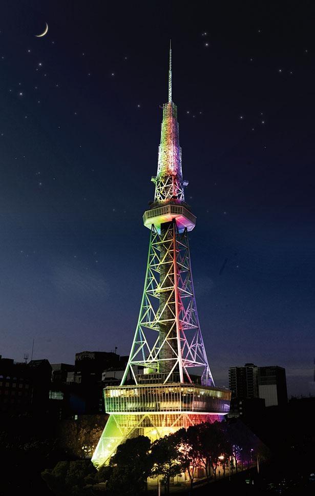 【写真】ライトアップが新しくなり、夜景がよりキレイに /  名古屋テレビ塔