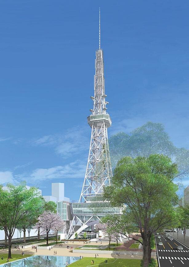 外観は施工当時そのまま。塔内は最先端のトレンドで一新 / 名古屋テレビ塔