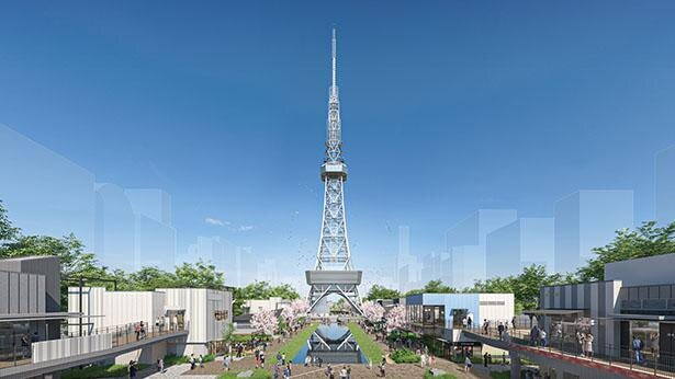 公園と人気ショップが融合した新スポット。芝生を囲むように店舗がつらなる / Hisaya-odori Park