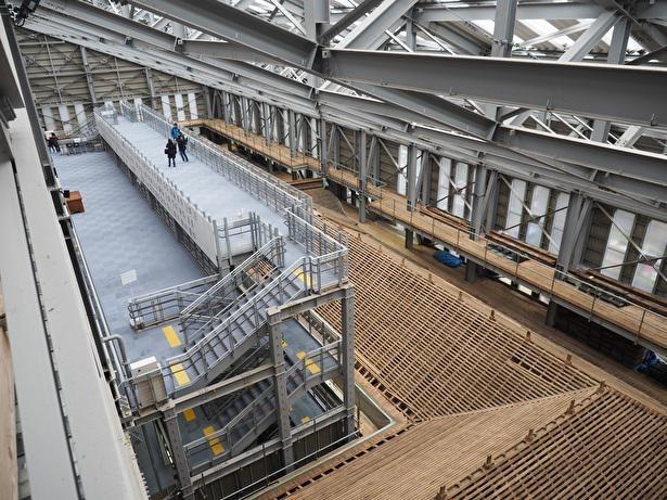 根本中堂の改修工事の見学ができる修学ステージ