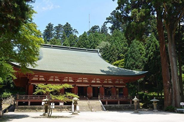 三井寺(滋賀県の園城寺)より金堂を移築した釈迦堂(転法輪堂)