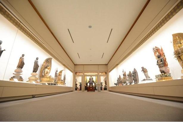 東塔地域にある、延暦寺に伝来する仏像などの文化財を保管している国宝殿