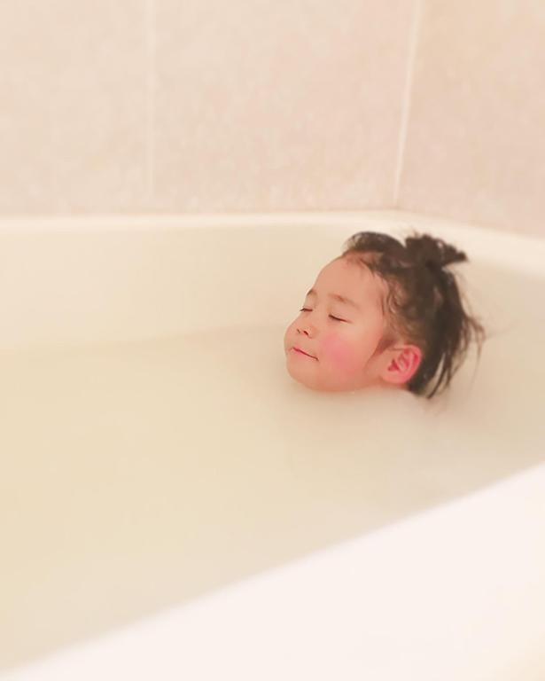 お風呂に入っていい気持ち~