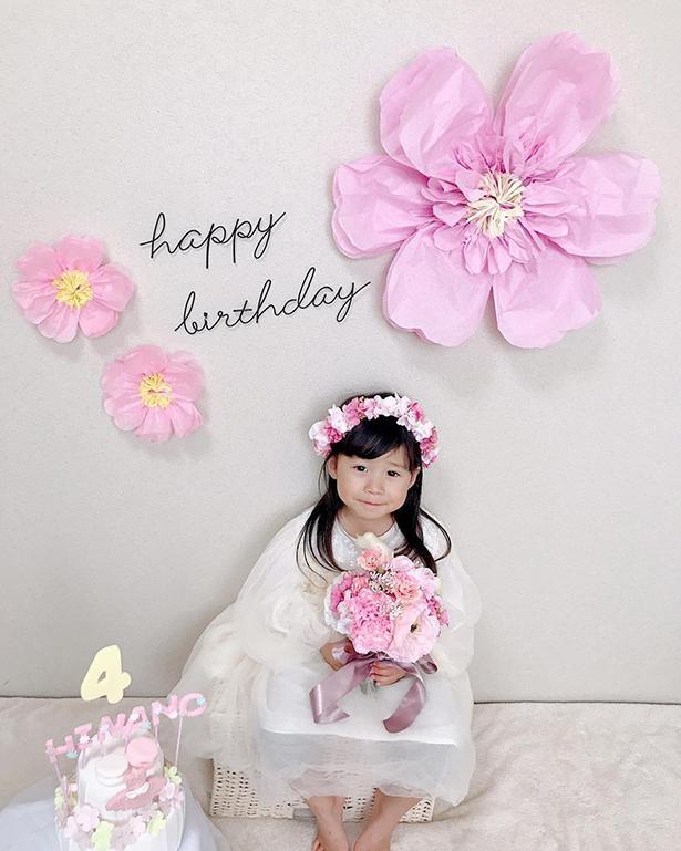 4歳の誕生日の際の写真