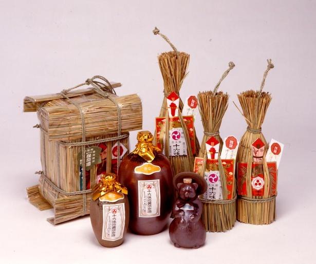 保命酒は、鞆の浦にある酒蔵4軒でのみ製造されている※写真は一例