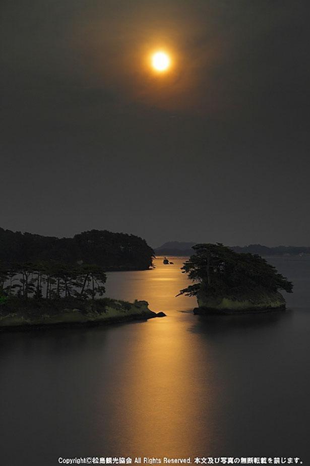 松島の名月は伊達政宗公や松尾芭蕉をも魅了した