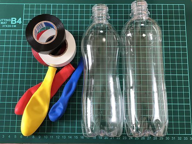 いろいろな形、サイズのペットボトルで試してみよう