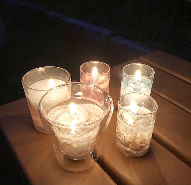 作ったキャンドルに火を灯してみた。秋のキャンプに持っていきたくなる!