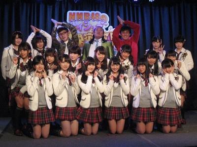 『NMB48のナイショで限界突破!』の収録を行ったNMB48とロバート