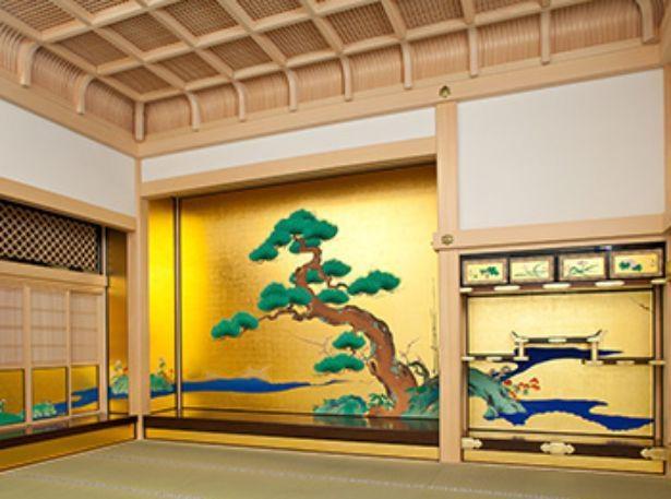 【写真】表書院上段之間。創建時には、最も格式の高い部屋として藩主に謁見する際に用いられた