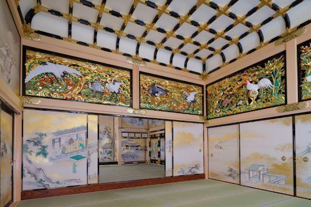 徳川三代将軍の宿泊所として増築された上洛殿。幕末までに使ったのは3人の将軍のみで、通常は藩主でも立ち入ることができなかった