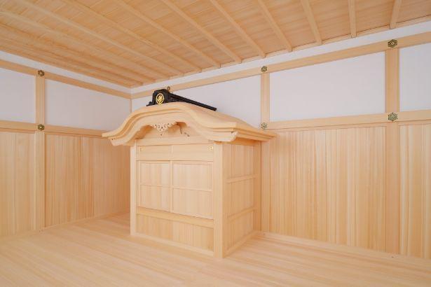 将軍の湯殿(浴室)も復元。現在のように湯船はなく、外にある釜で湯を沸かし湯気を内部に引き込むスタイルだった