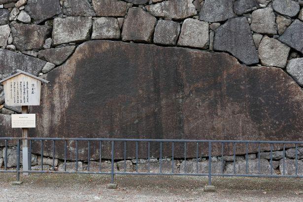 名古屋城の石垣の中で最大の「清正石」