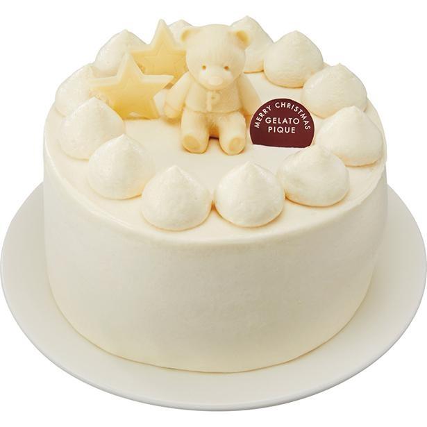 【写真】ホワイトクリスマスをオールホワイトで表現…ジェラピケ初のクリスマスケーキ