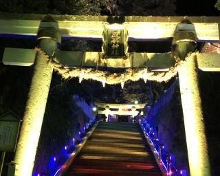 山代温泉街の神社がライトアップ!石川県加賀市で 「五彩の輝き」が開催中
