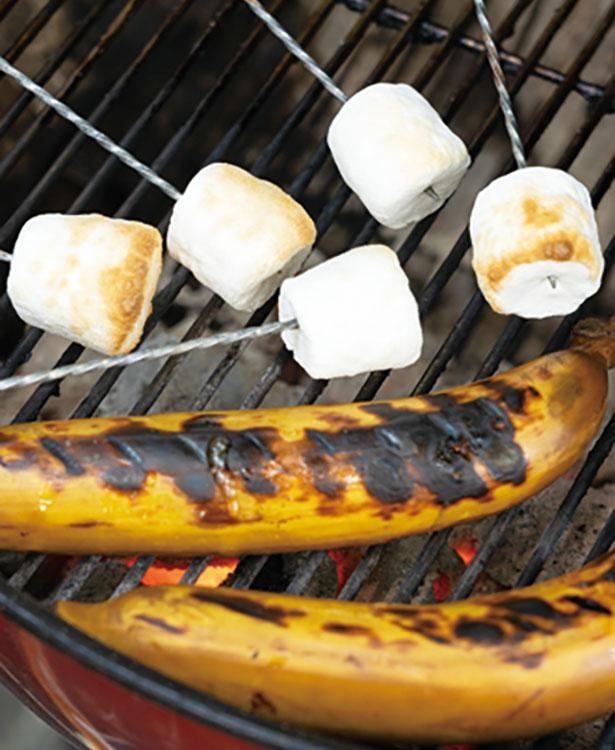 焼きバナナや焼きマシュマロも味わうことができる / キウイフルーツカントリーJapan