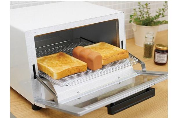 水分を含んだ製品が、トースター内でスチームを出すため、乾燥することなく美味しく焼きあがる