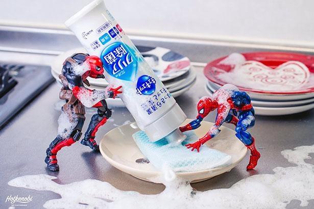 「洗剤かけすぎじゃない?」