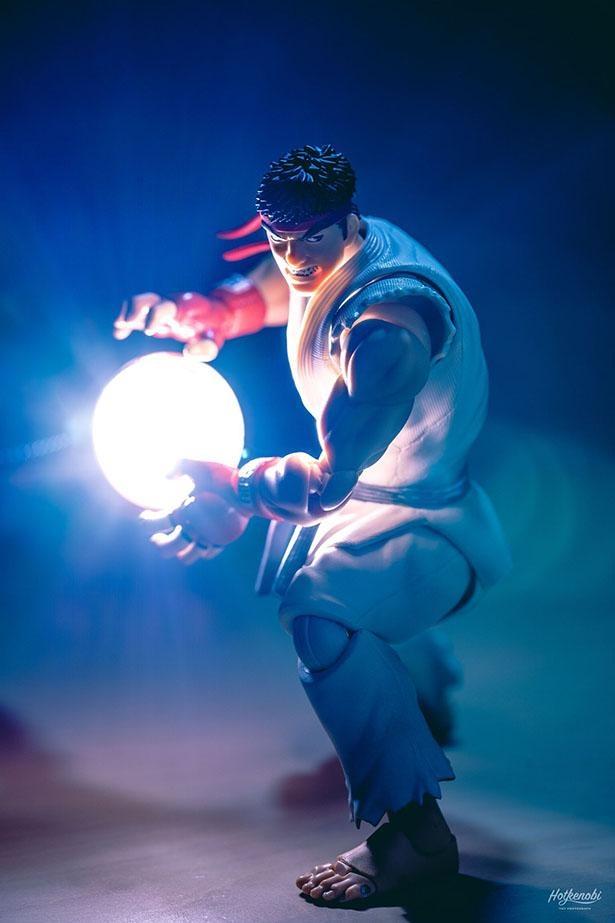 「ライトスタンドを使った波動拳!」