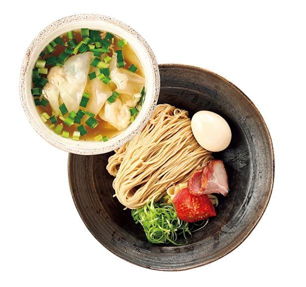 「特製塩つけそば 細麺」(税込1120円) /「麺 㐂色」(岐阜県岐南町)
